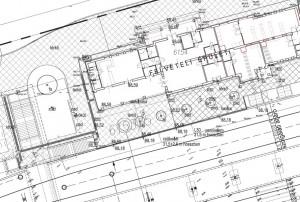 Törökszentmiklós vasútállomás állomási előtér kiviteli terve